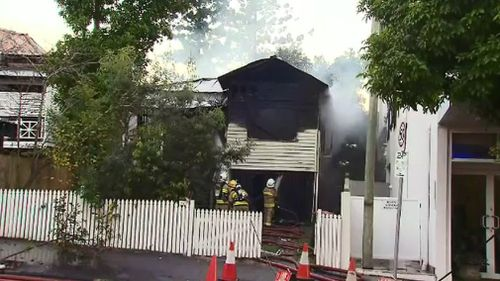 Firefighters extingushed the blaze. Picture: 9NEWS