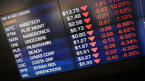 The stock market shed more than $60 billion from its value today. (AAP)