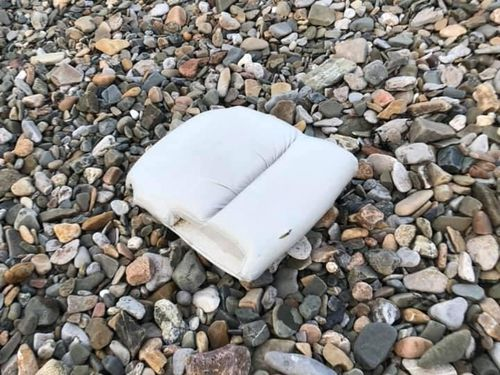 A cushion believed to be from  the plane.
