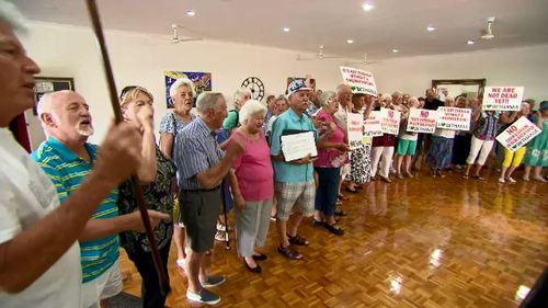 Retirement village residents are protesting plans to build a crematorium just metres from their homes.