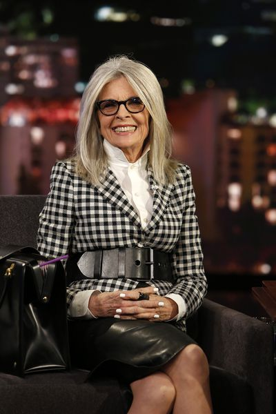 Diane Keaton on <em>Jimmy Kimmel</em> <em>Live</em>, June 12, 2017.