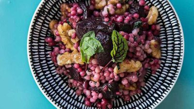 "<a href=""http://kitchen.nine.com.au/2017/05/26/14/08/blue-cabooses-roasted-beetroot-and-cous-cous-salad"" target=""_top"">Blue Caboose's roasted beetroot and cous cous salad</a> recipe"