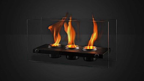 A portable decorative ethanol burner. (AAP)