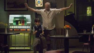 Bill Murray and Jaeden Lieberher in a scene from the film 'St Vincent', which follows a young boy who befriends the war veteran who lives next door. (Supplied)
