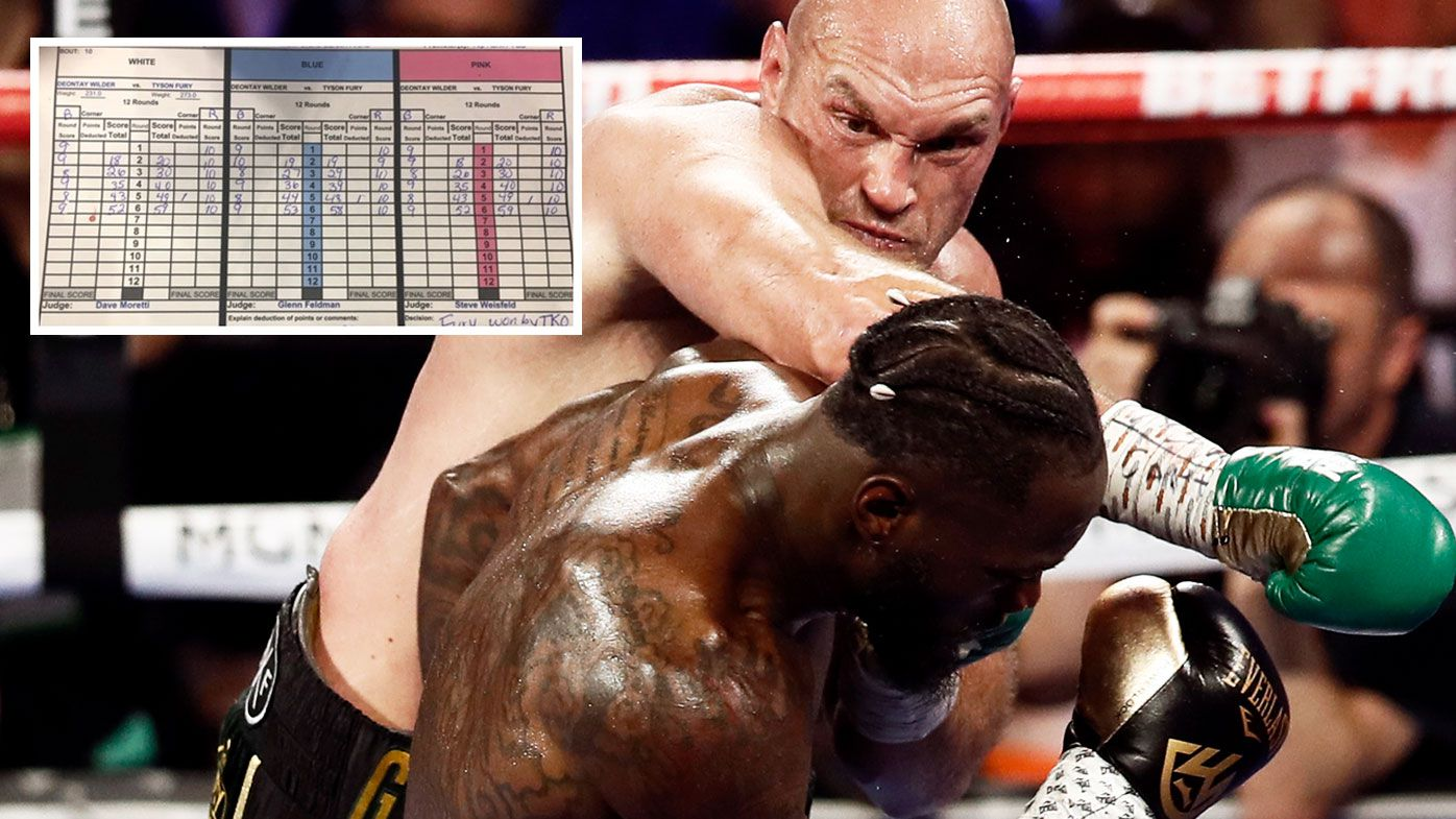 Scorecard reveals extent of Tyson Fury's Deontay Wilder beatdown