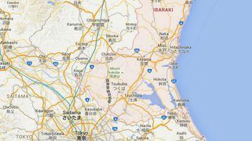 The earthquake hit Ibaraki, northeast of the capital, at 1.24pm.(Google Maps)