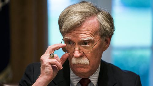 National Security Adviser John Bolton on his first day in the job. (AP/AAP)