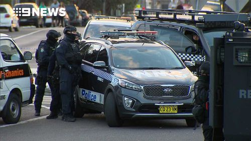 Police outside the property in Punchbowl.