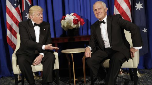 Donald Trump and Malcolm Turnbull met in New York last month. (AAP)