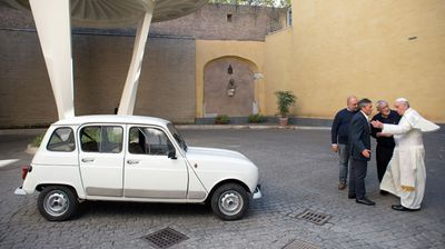 An Italian priest offered his old car to the Pope, assuming it would suit the Pontiff's austere style. (Getty)
