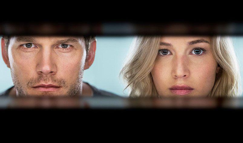 Sony's film 'Passengers' starring Jennifer Lawrence (left) and Chris Pratt.