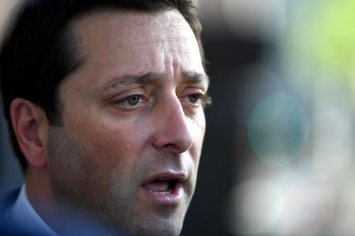 Matthew Guy has refused to apologise for blocking people on social media app, Twitter. (AAP)