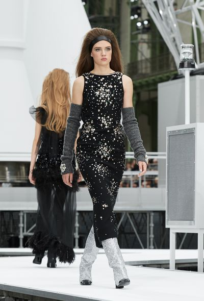 <p>The standout trend from foot-level on the runways this season was glitter boots. Disco balls descended on the toes of models at Chanel, Yves Saint Laurent and Miu Miu. We&rsquo;re big fans of glittering and being gay (don&rsquo;t freak out people, it&rsquo;s a song reference from Candide) but think it&rsquo;s best to start off small with Chelsea boots rather than thigh-high versions.<br /> The ankle boot is the perfect style for autumn, offering versatility, while sparkles makes sure that your look is riding high, rather than riding through the country. Step into these styles for disco moves that take you from day to night.</p> <p>Chanel,&nbsp;A/W 17</p> <br />