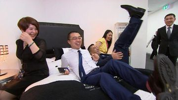 VIDEO: Sydney family takes bed-making business into the heart of China