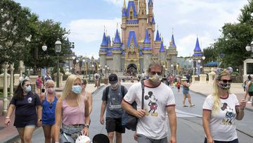Disney World has reopened, but the proper wearing of masks is mandatory.