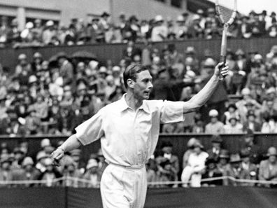 The Duke of York (later King George VI) competing in the All-England tennis championships at Wimbledon, 1926.  (Photo by Hulton Archive/Getty Images)