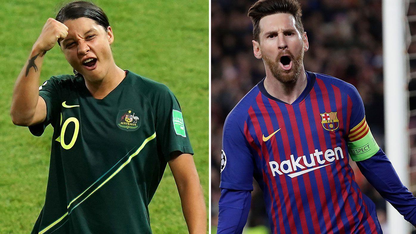Sam Kerr Lionel Messi