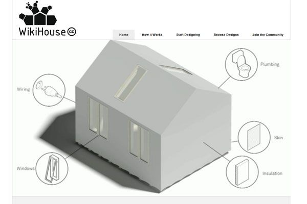 WikiHouse kit homes could be printed anywhere in the world on an industrial printer.