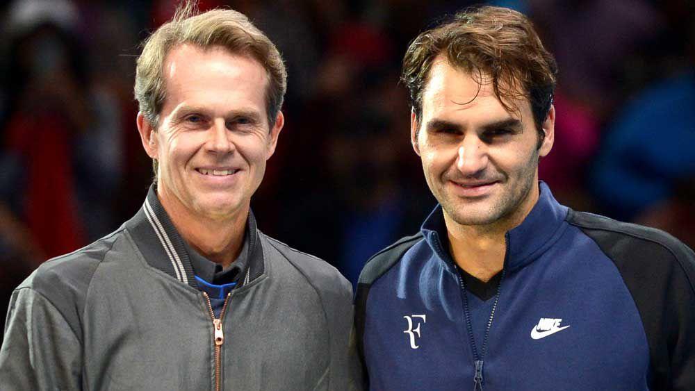 Stefan Edberg and Roger Federer. (AAP)
