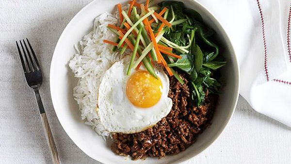 Korean Bibimbap Spicy Beef Mince Rice Bowl 9kitchen