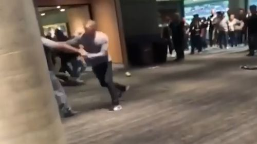 Multiple punches are thrown in the video. (9NEWS)