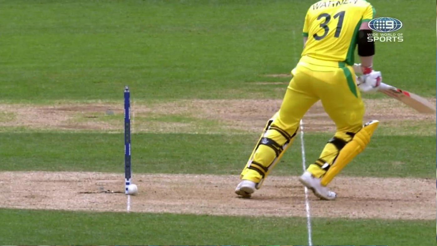 David Warner saved by Zing bails against India