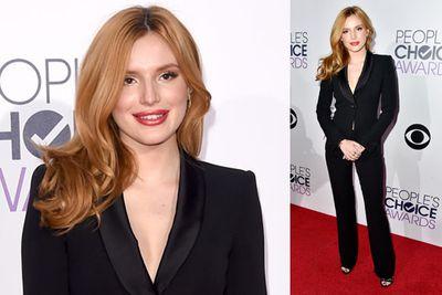 <i>Blended</i> star Bella Thorne showing off a smokin' hot suit.