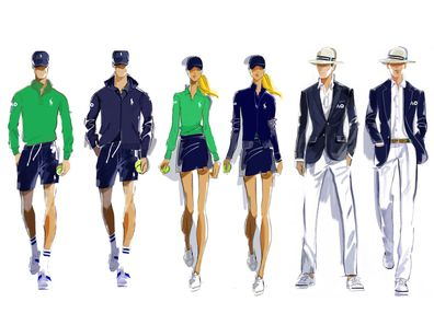 Ralph Lauren designs for Australian Open uniforms