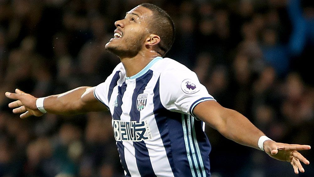 Salomon Rondon celebrates scoring against Burnley. (AAP)