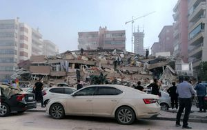 At least four dead and 120 injured in Turkey after strong earthquake topples buildings