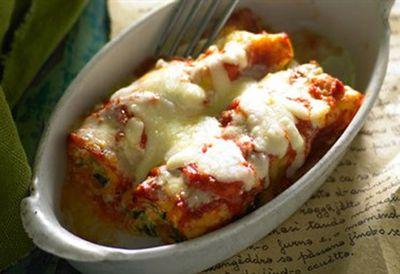 Ricotta and kumara cannelloni