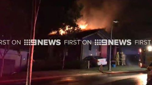A man has received burns to 90 percent of his body in a suspected domestic violence incident. (9NEWS)