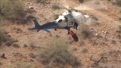 190605 Phoenix Arizona helicopter rescue spinning basket hiker news USA