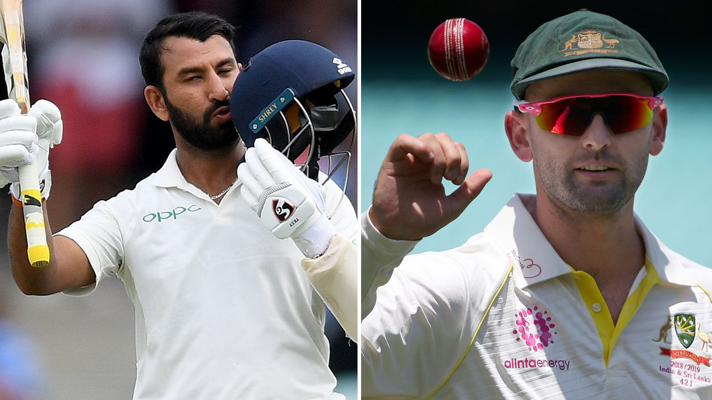 Nathan Lyon chirps Cheteshwar Pujara after Indian batsman puts visitors in box seat in fourth Test against Australia