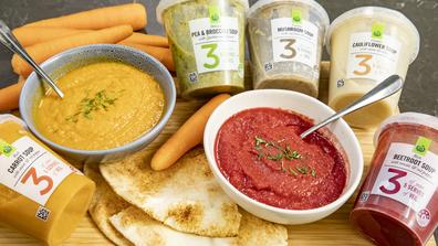 Woolworths '3 Serves' vegetarian soup range