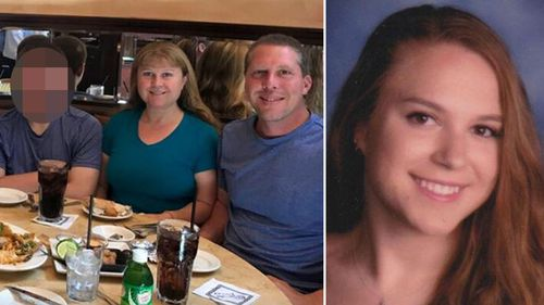 Linda Kologi (left), her husband Steven (middle) and their 18-year-old daughter Brittany (right) were shot dead on New Year's Eve along with family friend Mary Schultz (not pictured). (Facebook)