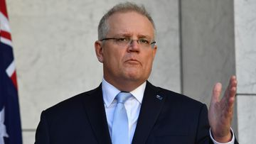 "Prime Minister Scott Morrison says the aim of the suppression strategy is ""no community transmission""."