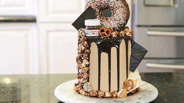 Sugar High Desserts' donut, Oreo and Nutella layer cake