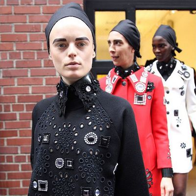 <p>Hanne Gaby Odiele leads the model charge.</p>