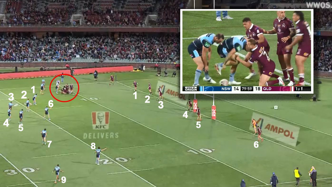 Was this the moment that cost the Blues a last shot at clinching the State of Origin opener? (Nine).