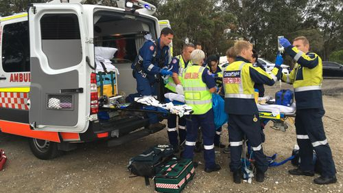 The girl was taken to Westmead Hospital by ambulance. (Careflight)