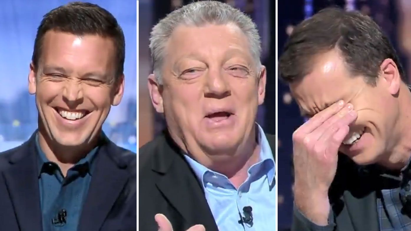 Joey's late night Gus prank leaves 100% Footy panel in stitches