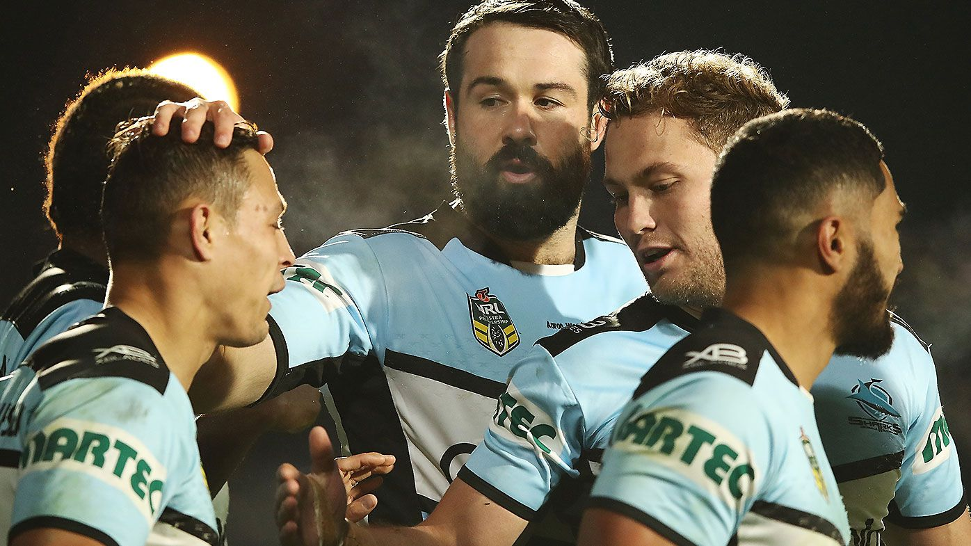 Cronulla Sharks celebrate
