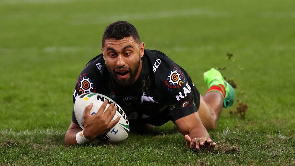 South Sydney winger Alex Johnston scores five tries in Rabbitohs rout over Penrith