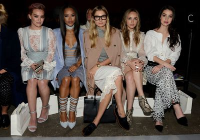 <p>Hilary Duff and Australian model Jess Hart were among the front row crowd for Zimmermann's eastern-inspired collection. Click through to see every look from the show.</p>