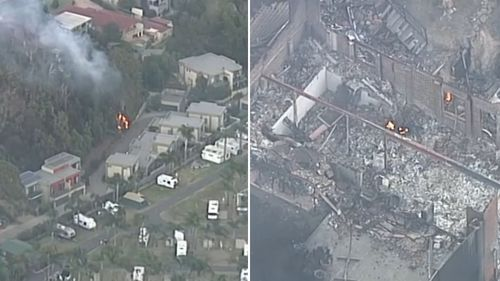 Around 70 properties have been destroyed by the fire.