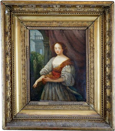 Caspar Netscher 17th Century oil painting