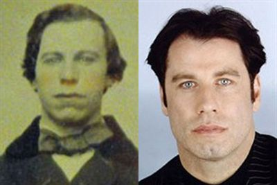 This pic of John Travolta, apparently from 1860, was posted on eBay for $500,000. The seller wrote: 'For those of you who don't know…scientologists believe in reincarnation. This can only mean two things; John Travolta has lived, died, and was born again. Or he's a time traveller.'<br/><br/>