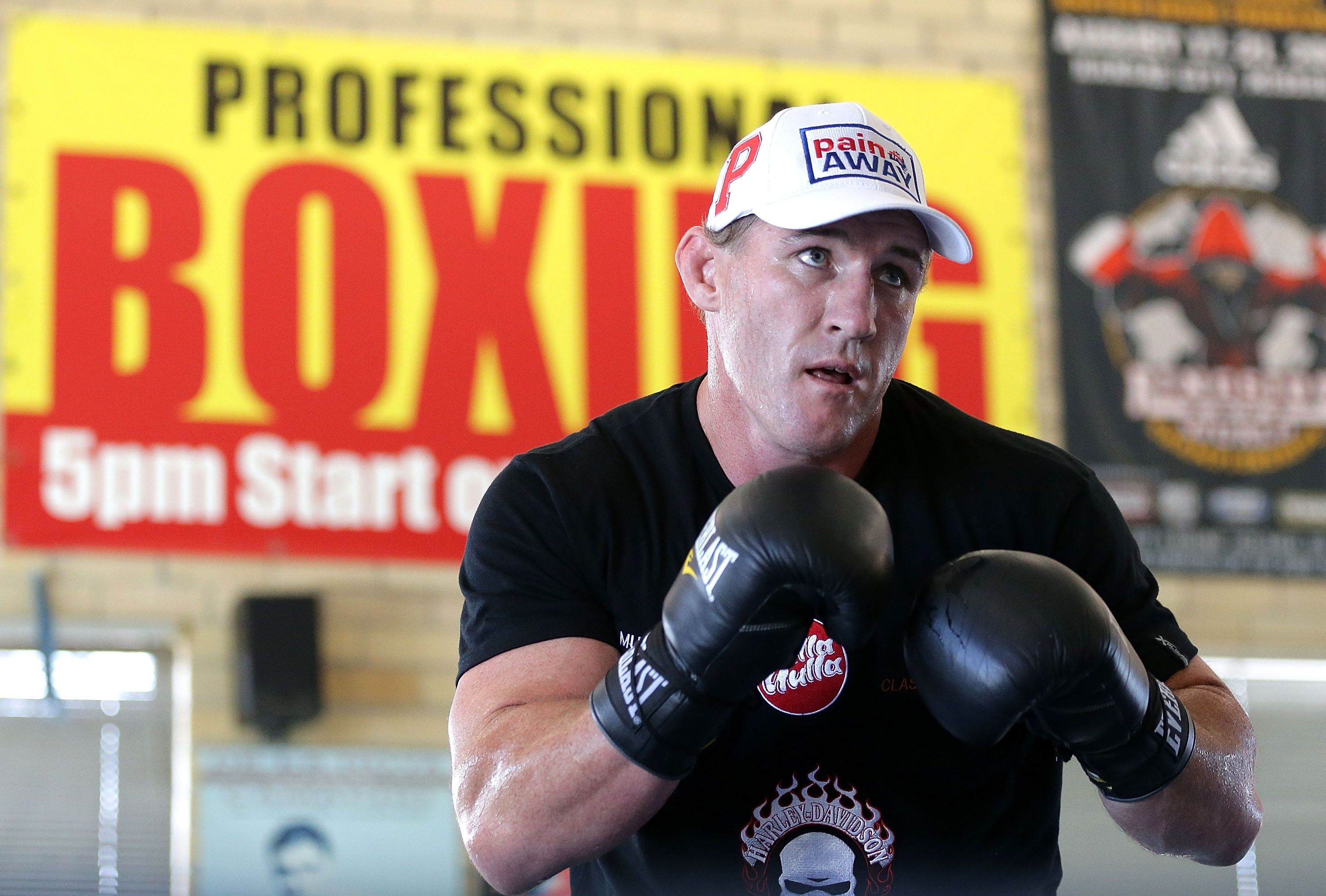 Paul Gallen at Kostya Tszyu's Gymnasium.