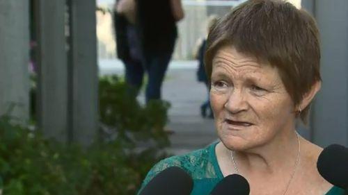 Mr Nankervis' mother, Anna, spoke outside court.